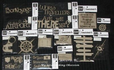 SCRAP FX Chipboard 'TRAVEL' Embellishments (Choose from 34 designs) Holiday/Trip