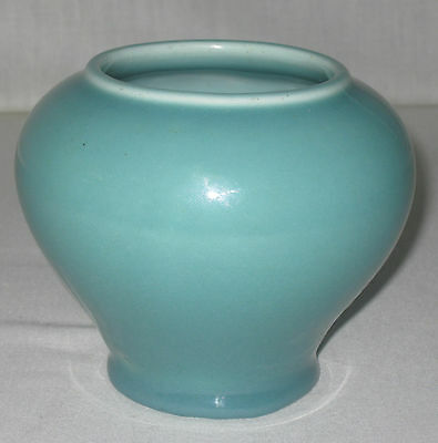 """ROOKWOOD ARTS AND CRAFTS   # 1828   ART POTTERY VASE 4 1/4"""" t.   1915"""