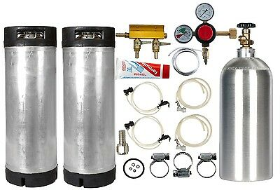 Dual Reconditioned 5 Gallon Ball Lock Keg - Kegerator Kit -Everything You Need!