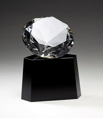 Genuine Crystal Diamond Award Trophy Free Glass Engraving Faceted Crystal