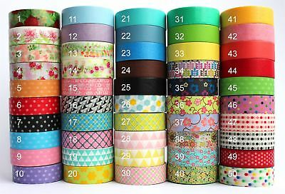 Masking Washi Decoration Paper Tape 15mm x 10m Gift Wrap & Self Adhesive Craft