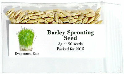 90 USDA Certified Organic Barley Sprouting Seeds Non GMO Packed for 2016