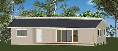 2 Bedroom DIY Granny Flat Kit The Retreat 80m2 with Gal Chassis CGI Wall Sheets