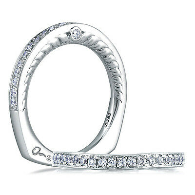 A.jaffe Peacock Engraved Wedding Band, Style #mrs452