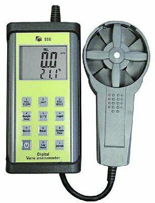 TPI 556C1 Digital Vane Anemometer w/ temperature, air flow calculation (cfm)