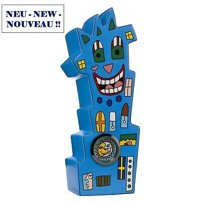 "JAMES RIZZI - POP ART KUNST Skulptur - ""WATCH TOWER"" - stylische Uhr als Figur"
