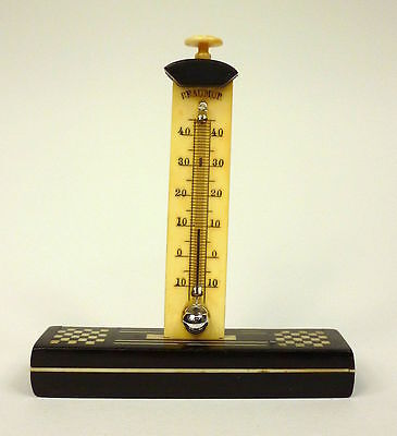Reise Thermometer Bein Holz um 1890