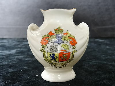 Arcadian china model of a vase with Douglas crest