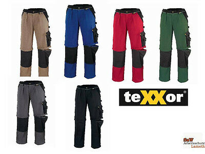 teXXor Multifunktions Arbeitshose Bundhose Canvas Cordura Workwear 320g/m² 42-64