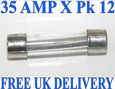 Classic Glass Quick Fast Blow Fuses 12 X 35A Auto Car