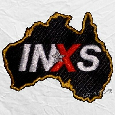 INXS Logo Embroidered Patch Australia Garry Gary Beers Andrew Jon Tim Farriss