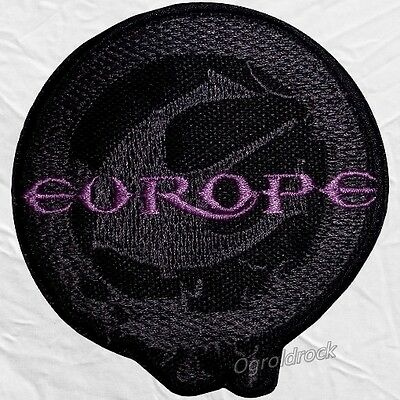 Europe Logo Embroidered Patch Rock Band Joey Tempest John Norum Final Countdown