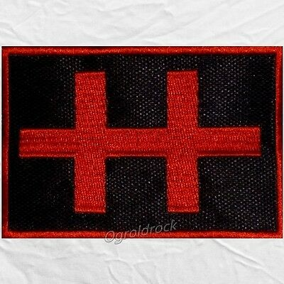 Marilyn Manson Double Cross Logo Embroidered Patch Holy Wood & Spooky Kids