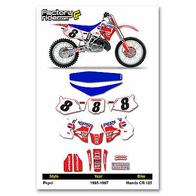 1995-1997 HONDA CR 125 PPSI Graphics Kit Seat Cover Motocross Graphics Enjoy
