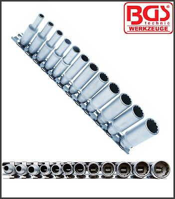 """BGS - 12 Pc - 1/4"""" Deep Socket Set - 12 Point Inch Used On Harley's - Pro - 2757"""