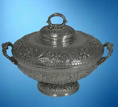 AN IMPORTANT TIFFANY STERLING SILVER TUREEN: DESIGN ATTRIBUTED TO CHARLES OSBORN