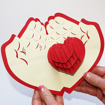 Give you my heart HANDMADE 3D POP UP GREETING CARD Anniversary  Love card