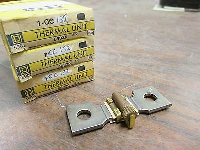 Square D Overload Relay Thermal Unit CC132 Lot of 3 Used