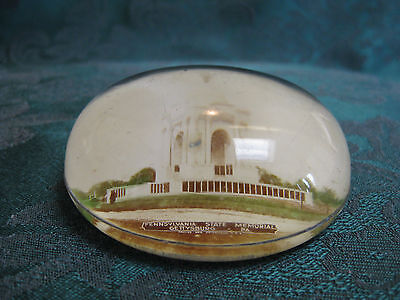 Antique PAPERWEIGHT, Domed Glass, GETTYSBURG, PA