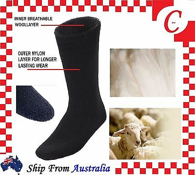 MEN MENS Cushion Thick Winter Warm Thermal Wool Heat WORK SOCKS Heavy Duty Bulk