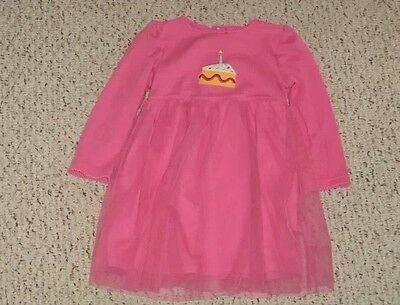 CARTERS TODDLER PINK BIRTHDAY DRESS W/CAKE  SIZE 18 MONTHS