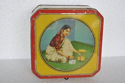 Vintage Prabhat Stove No. 101 Ad Litho Tin Box , Collectible