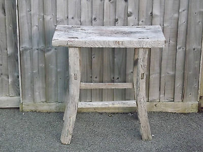 1136 Antique Chinese Extremely Rustic Elm Table