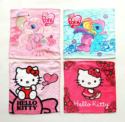 HELLO KITTY  MY LITTLE PONY  MINNIE   WASCHLAPPEN  SEIFTUCH  KINDER   30x30CM