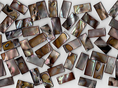 50g Dark Pearl Shell 1020 Rectangle Mosaic Tile 10mmx20mmx2mm Cut Shell Tile