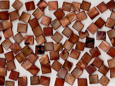 50g Copper Pearl Shell 1010 Square Mosaic Tile 10mmx10mmx2mm Shell Tile Border