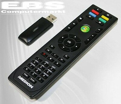 Medion Media Center PC Fernbedienung Remote Control RC-0617 mit USB Empf. Neu
