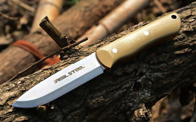 Messer Real Steel Bushcraft ll Sand Coyote D2 60° HRC  Outdoor Survival 02RE030