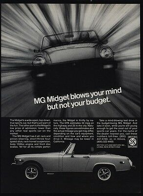 1978 MG MIDGET Convertible Sports Car - Blows Your Mind - VINTAGE AD