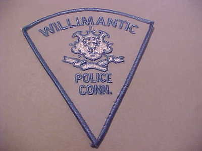 Willimantic Ct.  Police Patch *** Free Usa Ship ****