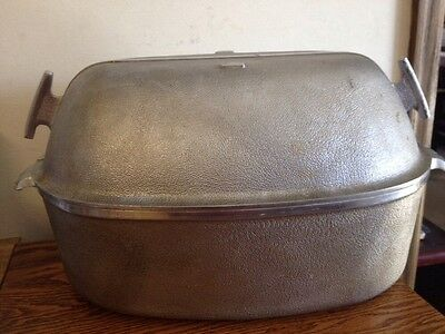 LARGE Guardian Service Turkey Roaster Dutch Oven with Lid Aluminum Vintage