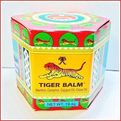 19.4 G. Tiger Balm Red Herbal Ointment Massage Rub Muscles Pain Relief Headache