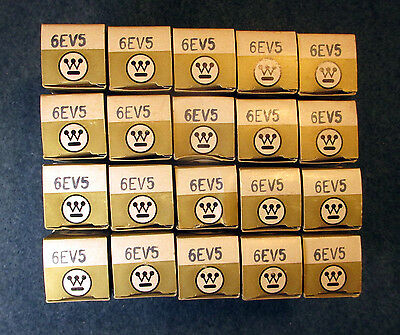 (20) Piece Lot NOS NIB # 6EV5 / 6EA5 Westinghouse Sharp Cutoff Tetrode - New !