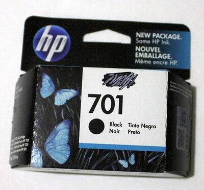 Genuine New HP 701 Black (CC635A) Factory Sealed Box Ex 7-2015