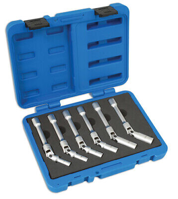 Laser Tools 4324 Extra Long Glow Plug Socket Set 6pc
