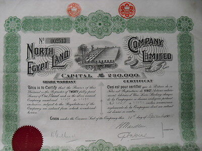 Ägypten:  North Egypt Land Company  1905