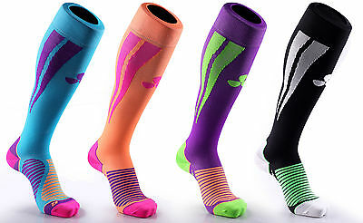 Samson® Compression Coloured Socks Football Running Gym Fitness Active Sport