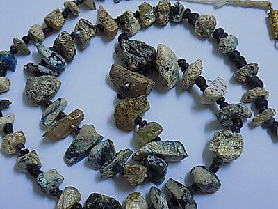 Ancient Roman Glass Fragments Beads Strand 200 BC BE1718