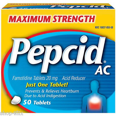 Pepcid AC Maximum Strength Prevents & Relieves Heartburn 50 Tablets