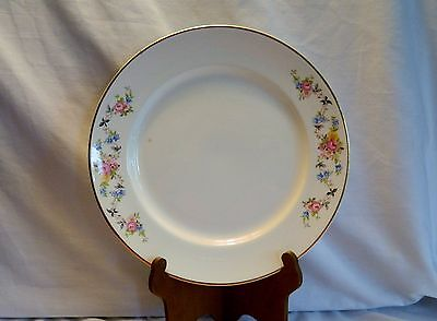 VINTAGE HERITAGE WARE BY STETSON 9 INCH DINNER PLATE FLORAL EDGE PATTERN