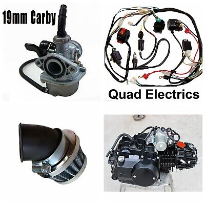 125cc Full Auto Engine Kit Wiring Loom Carby for Thumpstar Atomik Dirt Bike ATV