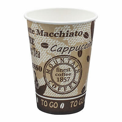 "Automatenbecher ""Coffee to go"" 70,3mm Ø Pappbecher Trinkbecher beschichtet 180ml"