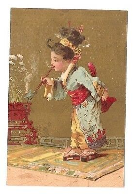 Une bonne pipe -  Chinoise  costume - Vallet Minot - Chromo Scala - Trade card