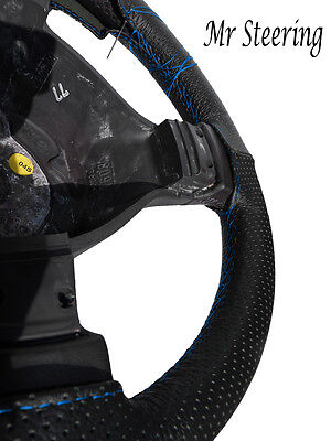 Fits Mercedes Sprinter Mk2 Perforated Leather Steering Wheel Cover Sky Blue St
