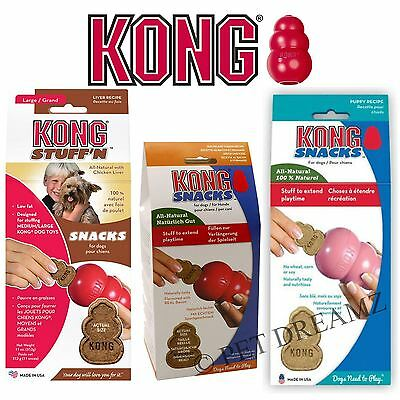 Kong Stuff`n Snacks Dog Puppy Treats For Kong Toys Liver Bacon Cheese – 2 Sizes