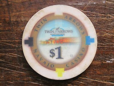 Navajo Casino Twin Arrows Arizona $1 Casino Chip